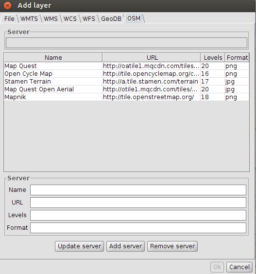 gvSIG 2 0: OpenStreetMap, adding new servers | gvSIG blog